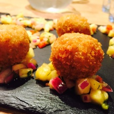 Salmon and prawn Arancini at Byzantium