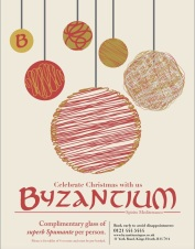 Byzantium - now taking bookings for Christmas!