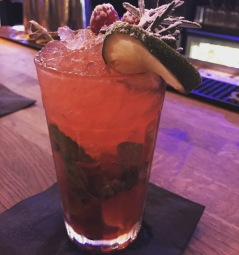 The best raspberry mojito ever at Bohemian's launch nigh