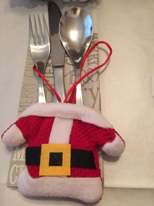Santa Cutlery holders...