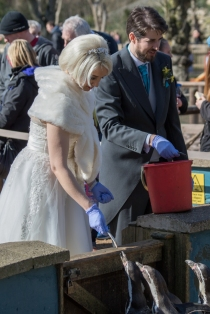 A wedding at the zoo!