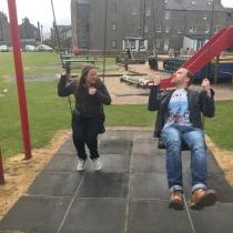 Swinging... ahem... with Steve
