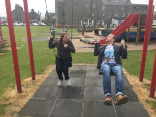 Swinging... ahem... with Steve