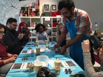 Jay demonstrates how to make truffles