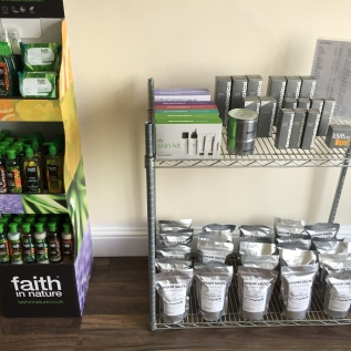 Products available in reception