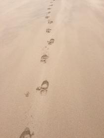 The Bloke's footprints