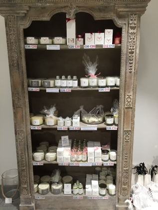 Just some of the candles available