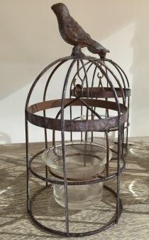 Beautiful little birdcage tealight holder