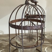 Beautiful little birdcage tealight holder