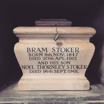 Bram Stoker's ashes