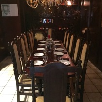 One of the beautiful dining rooms