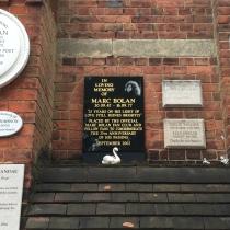 Marc Bolan's plaque