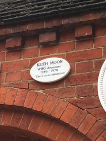Keith Moon's plaque