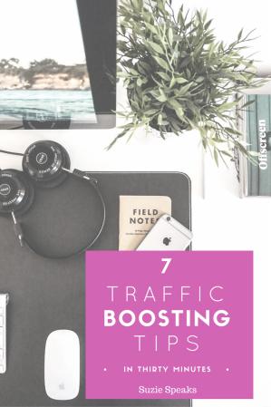 Boosting blog traffic