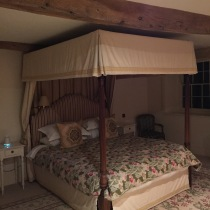 Four poster bed!