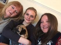Mum, my sis and me