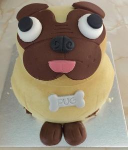 A Pug Birthday Cake!