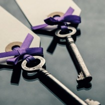 Wedding Seating cards wih keys