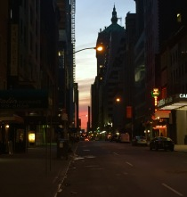 Sunrise down West 46th Street
