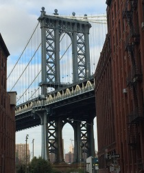 The classic Instagram shot of the Manhatten Bridge from near Brooklyn Park