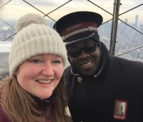 Alexander, the lovely guard at the top of the Empire State building
