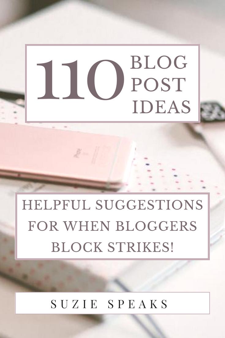 110+ Blog Post Ideas