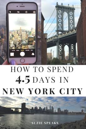 How To Spend 4 1 2 Days In New York City Suzie Speaks