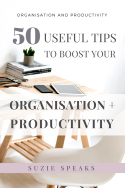 50 useful tips to boost organisation and productivity