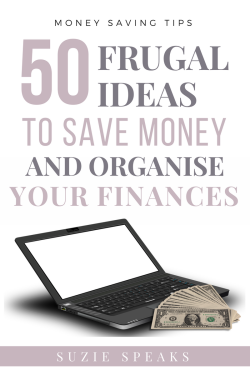 Frugal and thrifty ideas to help you organise your finances and save money