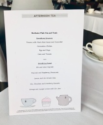 The Gin and Tea menu