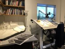 Design studio areas and art work