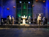 The teachers costumes, with Dumbledore in the middle