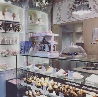 Just some of the cakes and cupcakes on offer at Peggy Porschen Cakes