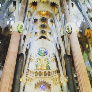 20 travel and money saving tips when visiting barcelona La Sagrada Familia Interior