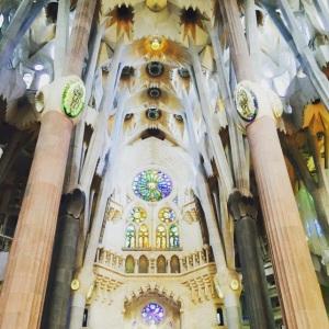 20 travel and money saving tips when visiting barcelona La Sagrada Familia Interior