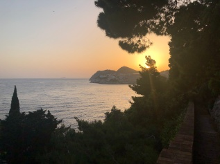 Sunset from Park Gradac Dubrovnik