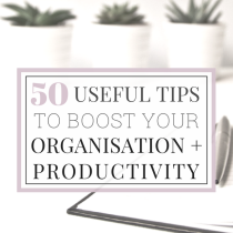 50 useful tips to boost organisation and productivity 3