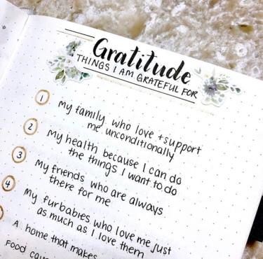 Gratitude Journal Spread Idea by Bujo Escape