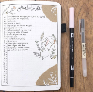 Gratitude Journal Spread Idea by Bujo Sonia
