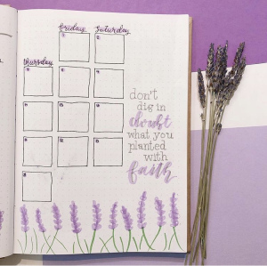 Gratitude Journal Spread Idea by Burst and Blossom