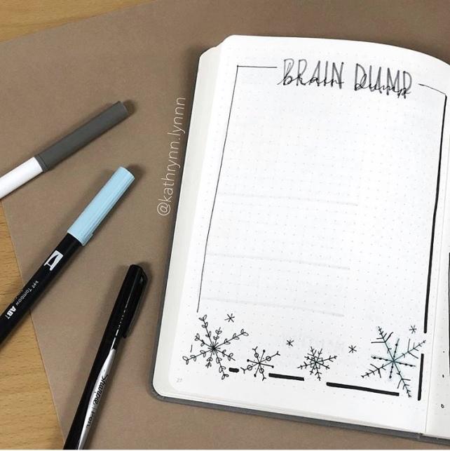 Great Bullet Journal Spread Ideas for January Brain Dump Kathryn