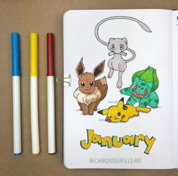 Great Bullet Journal Spread Ideas for January Char Dangerfield