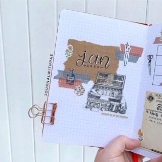 Great Bullet Journal Spread Ideas for January Journal with Rae