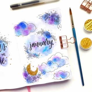 Great Bullet Journal Spread Ideas for January Mochi Moon Studio