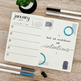 Great Bullet Journal Spread Ideas for January Notikjournal