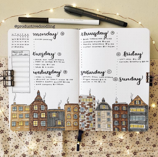 Great Bullet Journal Spread Ideas for January Productive Doodling