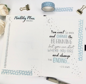 Great Bullet Journal Spread Ideas for January Suzie Speaks Monthly Plan