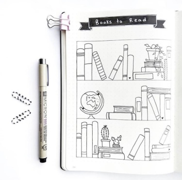 Great February Bullet Journal Ideas Books to Read Spread Jade_Journals