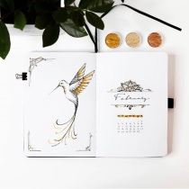 Great February Bullet Journal Ideas Cover Page Journal Away