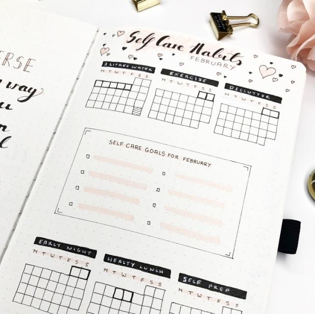 Great February Bullet Journal Ideas Habit Tracker